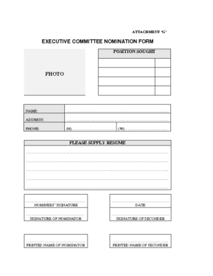 AGM – Executive Committee Nomination