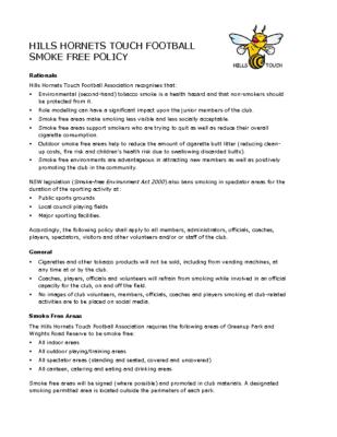 Smoke Free Policy